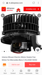 Looking for a 1994 c280 heater blow motor