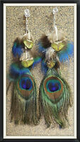 Exotic handmade feather and beaded jewellery