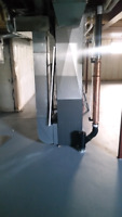 Custom duct work hrv Furnace installations