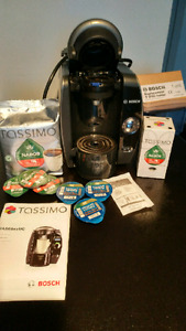 Tassimo coffee bosch maker with coffee