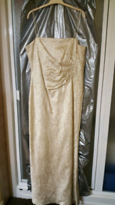 GOLD Long gown. Never used. Tags still on. Bellissima Brand