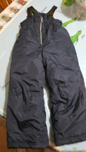 Snow pants with suspenders size 6 (dark blue