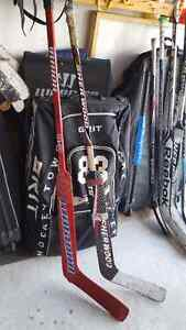 Warrior goalie hockey stick never used. Wood. Ages 12 and up