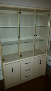 Vintage Display Cabinet with Light