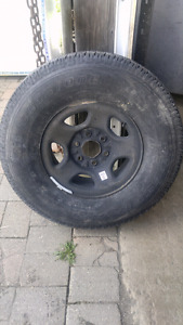 GM 6 bolt Rim with Brand New Bridgestone tire