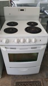 """24""""  White stove"""