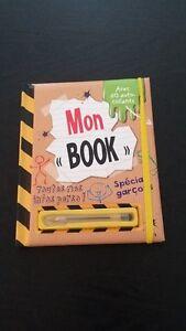 Mon « Book » - Toutes mes infos perso! Spécial garçons