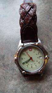 men swiss leather watch