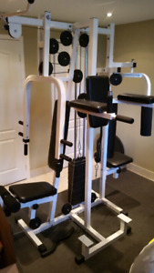 Exercise multi station home gym equipment