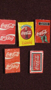 Lot of 5 Coca-Cola Playing Card DECKS