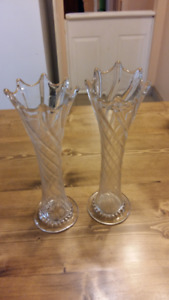 Swung Glass Twisted Vases