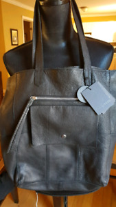 Day &Mood Anthropology Heather Tote 3 Black Leather Handbag