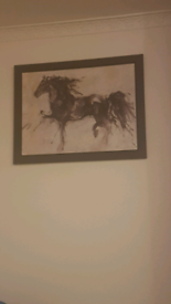 Large horse painting