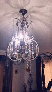 Chandelier with 2 matching table lamps