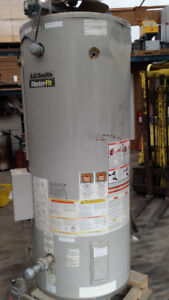 New large propane hot water tank