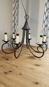 Black 6-Light Candle-Style Chandelier