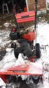 8/24 electric start  snow blower
