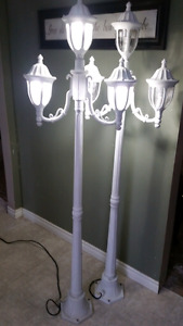 Two 6' outdoor coach style lamp posts