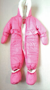 Baby Girl Pink One-Piece Snowsuit, Joe Fresh