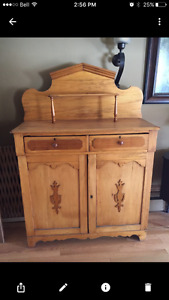 Antique Pine Sideboard Cupboard