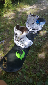 Ride snowboard complete set up