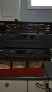 NAD receiver NAD 6 cd player and MXR stereo Octave equalizer