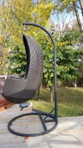 Large Patio Egg Chair with Stand