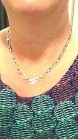 Lost : Islington / Kings Cross : Silver necklace