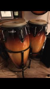 Meinl conga drums + Bucket Stands - Sunburst