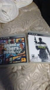 GTA 5 and MW3 for PS3. $20 for both $15 a piece.