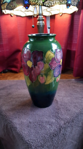 Moorcroft clematis floral vase numbered and signed