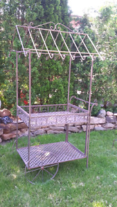 6 ft tall barbeque patio cart