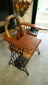 Singer treadle sewing machine chair