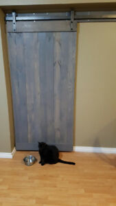***CUSTOM MADE BARN DOORS***  Stained and made to size.