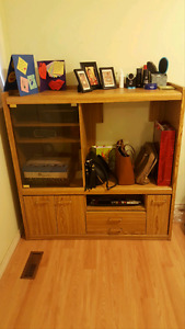 Oak dresser and TV STAND