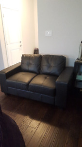 Black leather IKEA couch. Very good condition $200