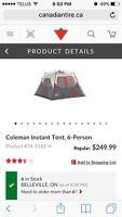 Coleman instant tent - 6 person