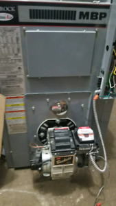 Used oil furnace and hot water tank quick samw5