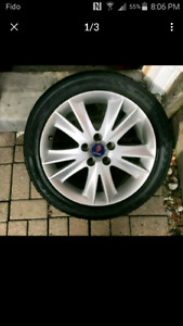 "17"" rims and tire great condition"