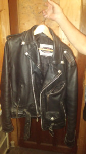 Black leather jacket mint condition size 40 mens