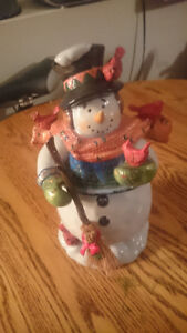 Snowman Free Standing Ornament