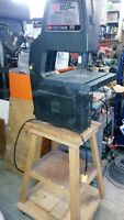 """Sears 10"""" Bandsaw with custom built stand"""
