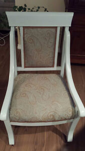 Reupholstered and refinished chairs and side table Edmonton Edmonton Area image 2