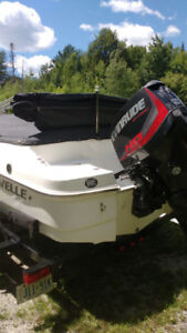 2014 19 ft Caravel bowrider with 2017 evinrude 150 h.o, graphite