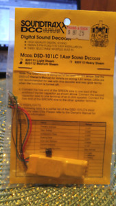 Soundtraxx DCC Decoder with Sound for HO Scale Model Trains