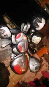 Spalding golf bag and a ton of clubs