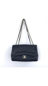 Navy Classic Chanel shoulder bag