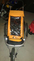 Chariot remorque simple de marque MEC (orange)