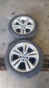 TWO BMW 17 INCH RIMS. PERFECT FOR SPARES. 5X120
