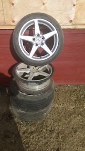 Honda/acura rims with 215 45r17 tires